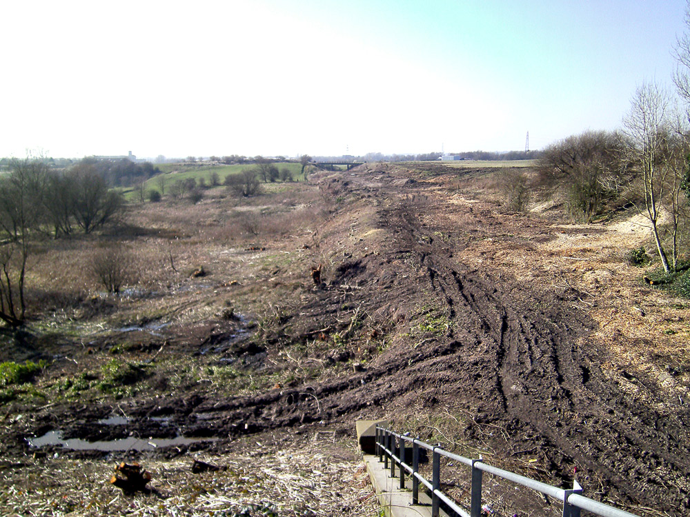 Foxdenton in the process of being destroyd by Oldham Council