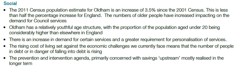 misleading section from oldham labour councils financial accounts for 2014-15