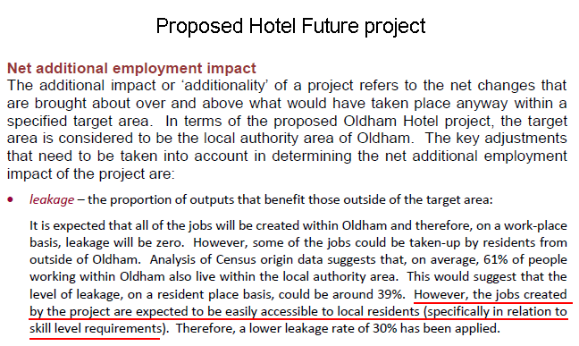 Hotel Future economic employment assessment.