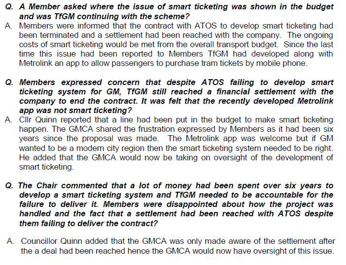 Extract from Greater Manchester Combined Authority documents