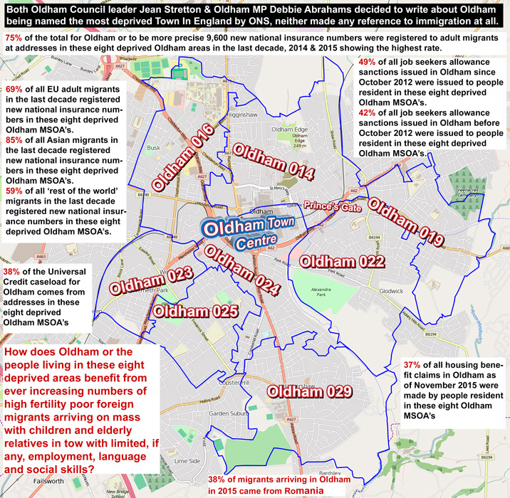 Oldham's deprived areas